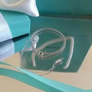 "Tiffany&Co. Necklace. Silver 925.18"""